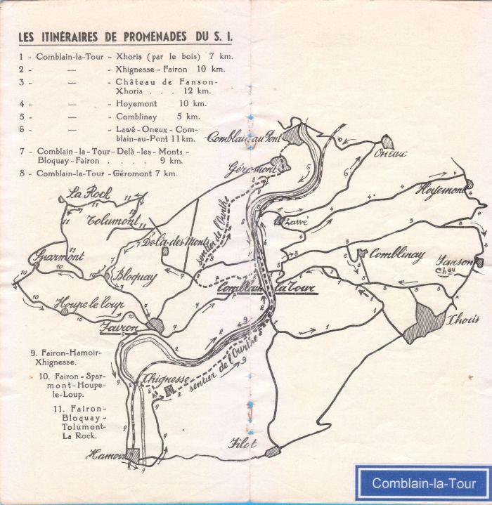 0025 - Fascicule pour organiser les promenades – Carte et détails