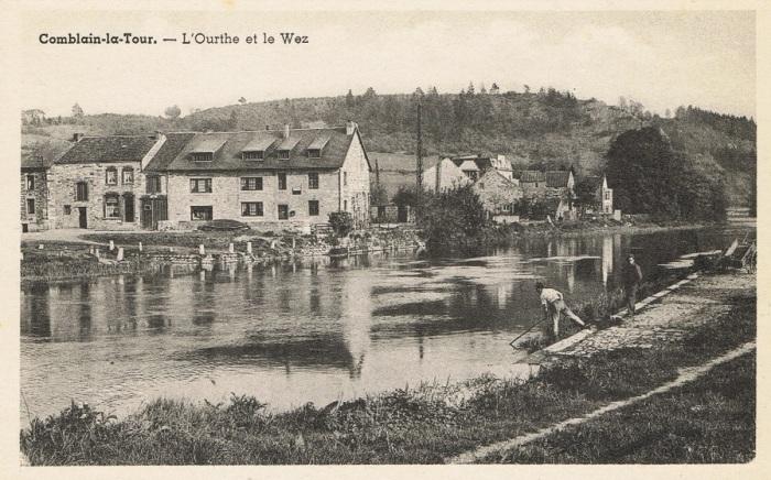 0087 : COMBLAIN-LA-TOUR – Carte postale : Place du Wez