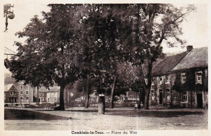 0088 : COMBLAIN-LA-TOUR – Carte postale : Place du Wez