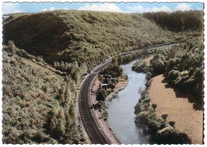 107 : COMBLAIN-LA-TOUR – Carte postale : L'Ourthe, au lieu dit « le Tourniquet ».