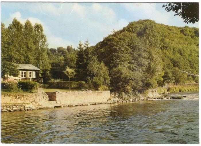 108 : COMBLAIN-LA-TOUR – Carte postale : L'Ourthe, au lieu dit « le Tourniquet ».