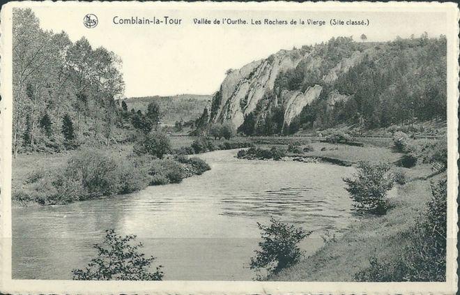 109 : COMBLAIN-LA-TOUR – Carte postale : L'Ourthe, au lieu dit « le Tourniquet ».