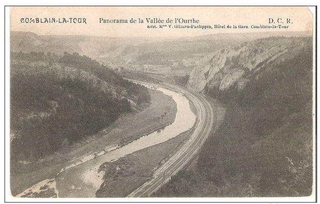 110 : COMBLAIN-LA-TOUR – Carte postale : L'Ourthe, au lieu dit « le Tourniquet ».