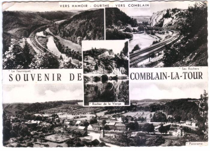 0073 - COMBLAIN-LA-TOUR – Carte postale : Souvenirs de Comblain-la-Tour