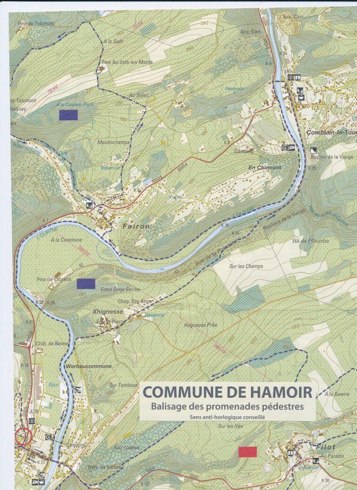 0093 - COMBLAIN-LA-TOUR – HAMOIR – COMBLAIN-LA-TOUR : Itinéraire de la promenade