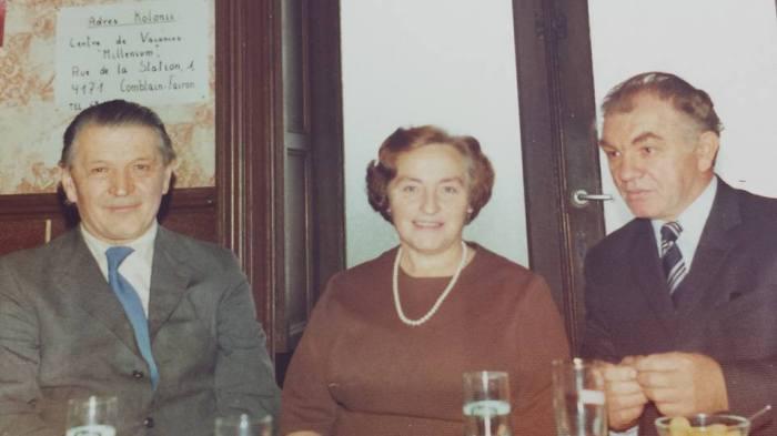 0181 : COMBLAIN-LA-TOUR : Mr Joseph Rzemieniewski ; Mme Koldziejka ( grand-mère Béatrice et Fabienne Laffut ) ; Mr Wochen ( père d'Hélèna, de Christiane ).